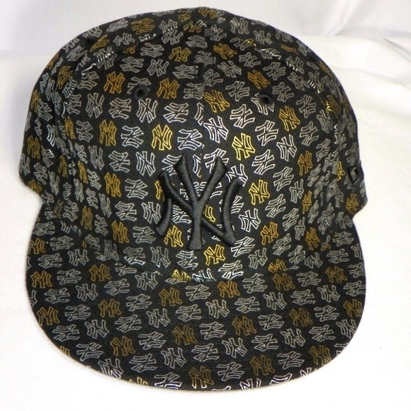 713d649f527 Rare 59FIFTY CAP NY YANKEES TEAM FOIL BLACK GOLD. Boutique. New Era
